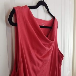 Lands' End Cowl Neck Coral Sleeveless T-Shirt
